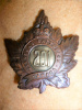 201st Battalion (Toronto Light Infantry) Eaton's Pattern Officer's Cap Badge