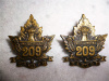 209th Battalion (Swift Current, Saskatchewan) Collar Badge Pair