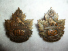 192nd Battalion (Crowsnest Pass) Collar Badge Pair