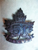 51st Battalion (Edmonton, Alberta) (no Overseas) Cap Badge