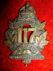 117th Battalion (Eastern Townships) Cap Badge