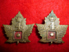 21-4, 4th Canadian Railway Troops Collar Badge Pair, Gaunt Maker's Tablet