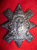 13th Battalion (Royal Highlanders, The Black Watch of Canada) Cap Badge, White Metal, Plated
