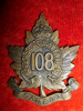 108th Battalion (Selkirk, Manitoba) Cap Badge (Maple Leaf variety)