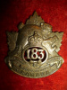 183rd Battalion (Manitoba Beavers) Cap Badge