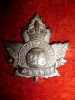 28th (North West) Battalion Officer's Silver Plated Cap Badge