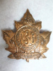 136th Battalion (Port Hope, Ontario) Cap Badge, Smooth Back