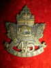 45th Battalion (Brandon, Manitoba) Cap Badge