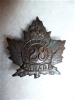 28A - 28th Bn (Northwest) Collar Badge, No overseas variety.