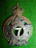 21-7, 7th Canadian Railway Troops Officer's Cap Badge, Gaunt