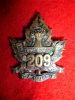209th Battalion (Swift Current, Saskatchewan) Collar Badge