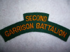 M169 - Second Garrison Battalion Shoulder Title, 1942