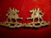 M75 - The Frontenac Regiment Collar Badge Pair