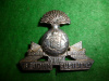 M96 - St John Fusilers Officer's Silver Plated Cap Badge