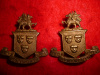 M116 - Wentworth Regiment Collar Badge Pair (More Defined Dragons)