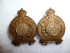 M58 - The Simcoe Foresters Collar Badge Pair