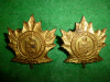 M112 - Lunenburg Regiment Officer's Muted Gilt Collar Badge Pair