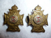 M99 - Les Fusiliers Mont Royal Officer's Matching Collar Badge Pair