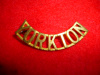 M158a - The Yorkton Regiment of Canada Brass Shoulder Title Badge