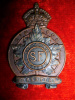 M58 - The Simcoe Foresters Officer's Cap Badge circa 1920-1936