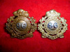 MM258 - 96th Lake Superior Regiment Officer's Collar Badge Pair, Silver & Gilt
