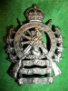M39 - The Halton Rifles Officer's Silver Plated Cap Badge