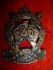 26th Battalion Logan & Albert Regiment Cap / Hat Badge