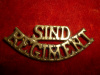 The Sind Regiment Shoulder Title Badge - Pakistan