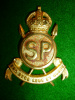 Swaziland Police Officer's Gilt Cap Badge circa 1932-56