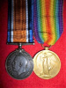 WW1 CEF Medal Pair to Webster, 43rd Canadian Infantry, (Member of 79th Cameron Highlanders Militia)