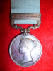 "Army of India Medal 1799-1826, one clasp ""Maheidpoor"" to a Conductor, Nizam's Service"