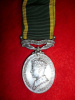 Efficiency Medal, scroll Canada, George VI, to Algonquin Regiment