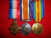 WW1 Medal Trio to an 20th Battalion, CEF, promoted Lieutenant in R.A.