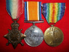 WWI Medal Trio to 4th Battalion CEF (Central Ontario Regiment) ex-BSAP, Scots Greys and Robert's Hor