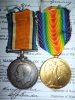 WW1 CEF Medal Pair to a Major, 18th / 36th / Chinese Labour Corps