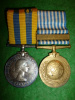 "Canadian Korea Medal Pair with ""Coree"" French Canadian U.N. Medal, PPCLI"