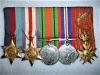 WW2 Medal Group of (5) with Belgian Croix de Guerre with palmes