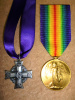 WW1 Memorial Cross & Victory Medal to 19th Bn