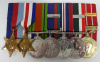 WW2 / Canadian Forces Decoration George VI & Clasp Medal Group of (7) to RCAF / Later Kitchener School Principal