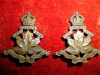 C20 - Queen's Own Canadian Hussars Collar Badges Pair
