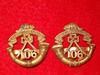 MM279, 106th Regiment Winnipeg Light Infantry Pair of Collar Badges