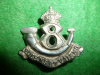 MM54 8th Royal Rifles Collar Badge, 1904-1922