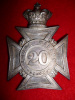 HP123 - 20th Halton Battalion Lorne Rifles Officer's QVC Helmet Plate