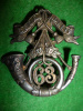MM190 - 63rd Regt. (Halifax Rifles) Sterling Silver Officer's Glengarry Badge