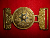 MM10 - Governor General's Foot Guards Victorian Officer's waist belt clasp. Dated 1872
