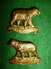 MM126 - 35th Simcoe Foresters Officer's Gilt 1912 Collar Badge Pair