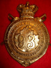 HP275 - Victorian 93rd Cumberland Battalion of  Infantry Helmet Plate Circa 1890,