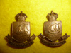 MM217 - 75th Lunenburg Regiment Collar Badge Pair