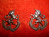 MC19 / MC20 - Toronto Light / 9th Mississauga Horse of Canada Cap / Collar Badge Pair