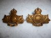 MM253 - 93rd Cumberland Regiment Collar Badge Pair